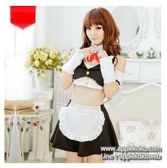 [[พร้อมส่ง]]   ชุดแฟนซี cosplay  ชุดคอสเพลย์ ชุดแม่บ้าน โลลิต้า lolita เสื้อตัวสั้น น่ารัก
