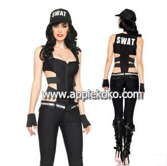 [[สินค้าหมด]] ชุดแฟนซี cosplay  ชุดคอสเพลย์ ชุดตำรวจ หน่วย SWAT หญิง