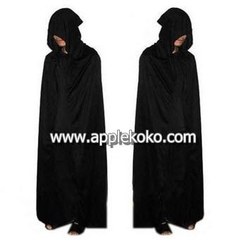 [[สินค้าหมด]] ชุดแฟนซี ชุดฮาโลวีน ชุดปีศาจ ฮาโลวีน Halloween ซอมบี้ Zomby ผ้าคลุมสีดำมีหมวก
