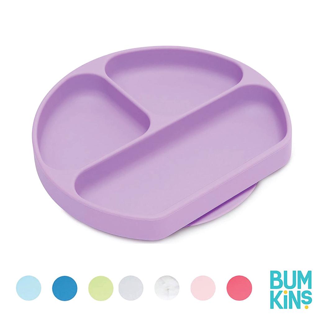 Bumkins  Silicone Grip Dish จานแบ่งช่อง มีฐานดูดพื้นผิว