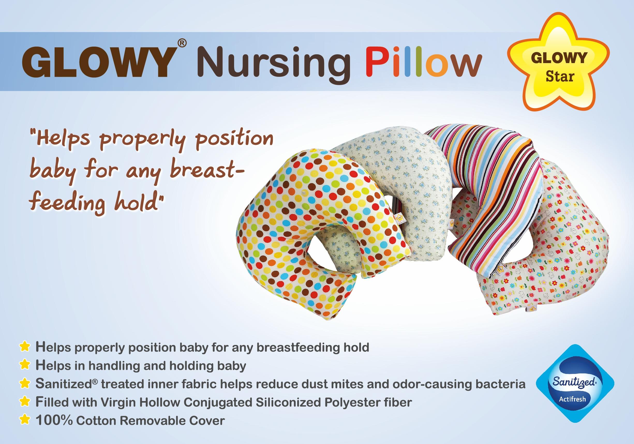 Glowy Star Nursing Pillow หมอนให้นม หมอนรองให้นม ***ราคาปกติ 1,140 โปรโมชั่นเหลือ 850 บาทมีค่าส่งเพิ่ม 150 บาท โดยค่าส่งได้รวมกับราคาข้างล่างแล้ว***