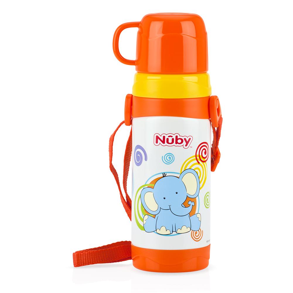 กระติกน้ำสแตนเลส พร้อมแก้ว Nuby