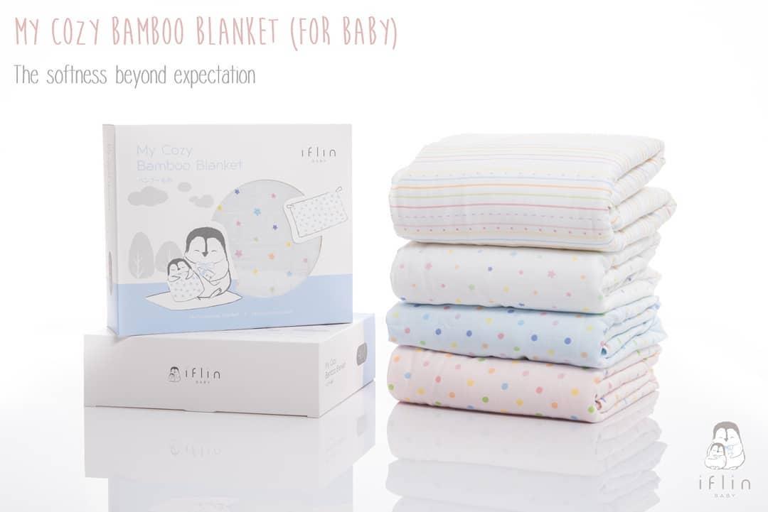 My Cozy Bamboo Blanket ผ้าห่มใยไผ่ (สำหรับเด็กแรกเกิด)