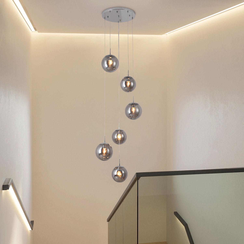 โคมไฟโถงบันได ต่างระดับ 6 หัว 6060-D6