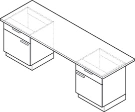 Bench with supporting underbench units
