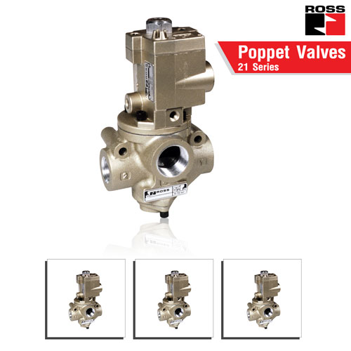 ROSS Controls® Poppet Valves for High & Low Temperature – 21 Series