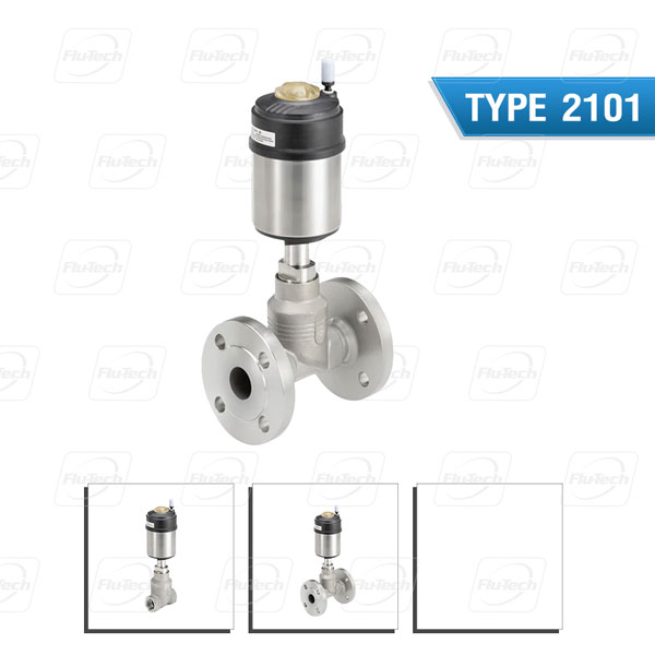 BURKERT TYPE 2101 - Pneumatically operated 2/2-way globe valve ELEMENT for decentralised automation