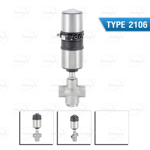 BURKERT TYPE 2106 - Pneumatically operated 3/2 way seat valve ELEMENT for decentralized automation