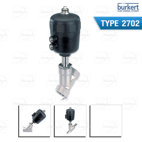 Burkert Type 2702 - Pneumatically operated 2-way angle seat control valve