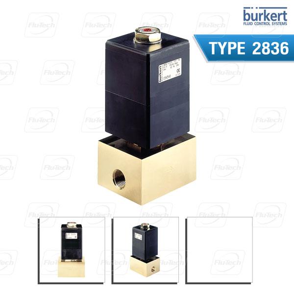 BURKERT TYPE 2836 - Direct-acting 2-way Solenoid Control Valve