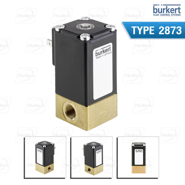 BURKERT TYPE 2873 - Direct-acting 2-way standard solenoid control valve