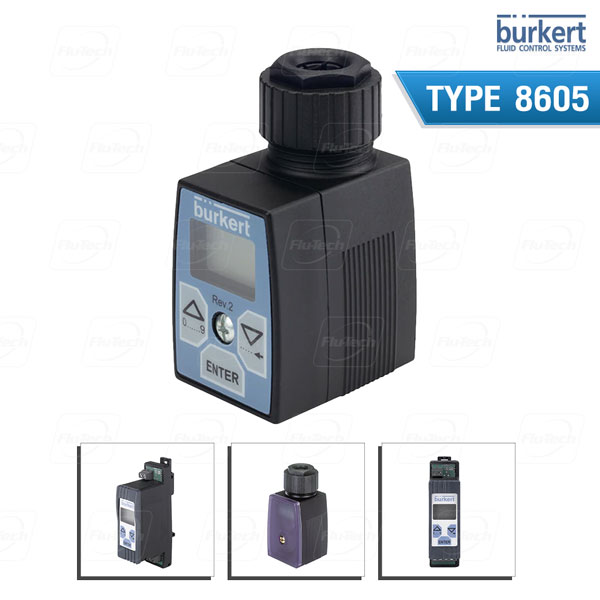 BURKERT TYPE 8605 - PWM control electronics for electromagnetic proportional valves