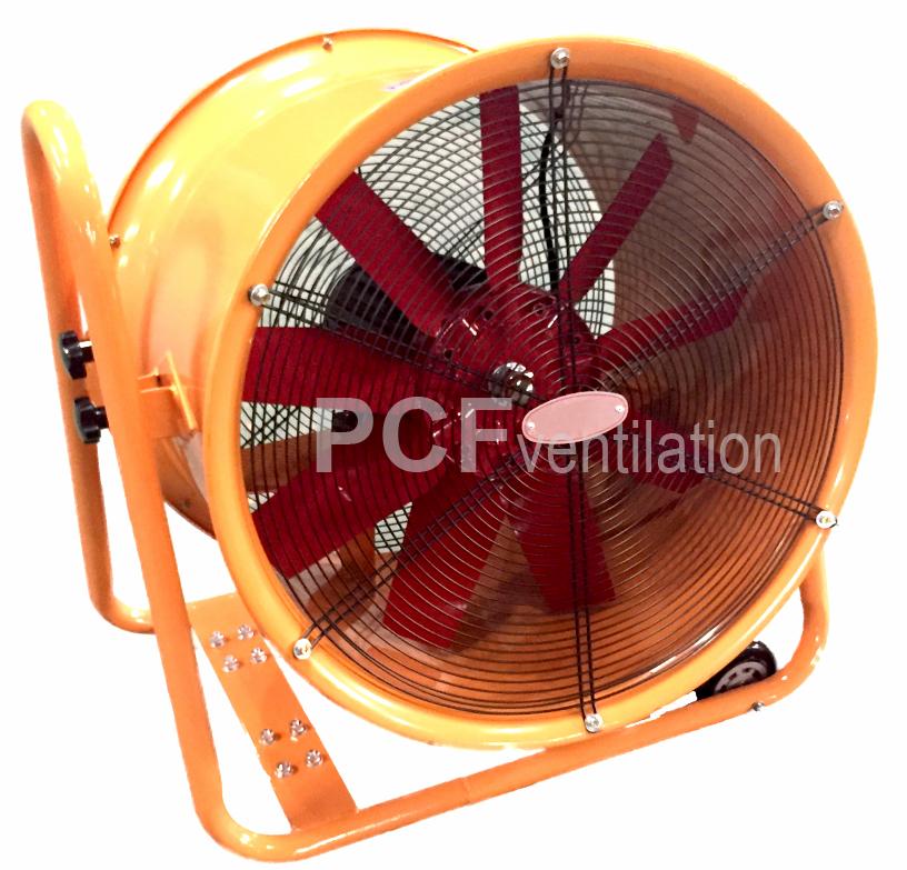 พัดลพัดลมชนิดถังกลม PCF Ventilation ชนิดมีล้อเลื่อนเคลื่อนย้ายได้สะดวก Model : SHT Series Moveable Blower
