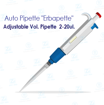 Adjustable Vol. Pipette 2-20ul.