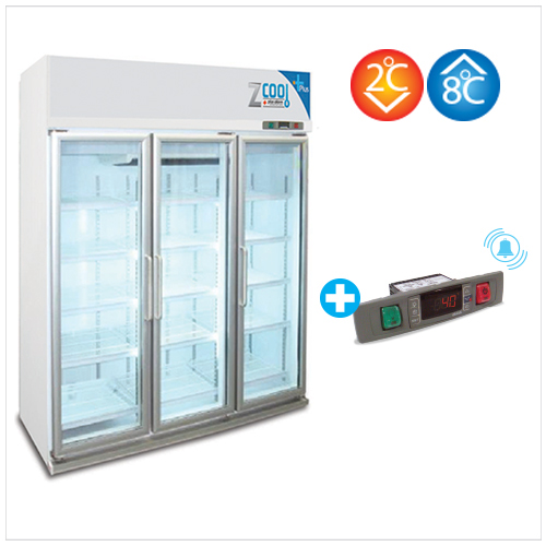 Z-Cool 2-8°C, 3 door Microprocessor Refrigerator with Alarm