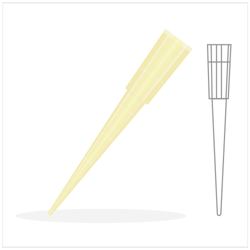 Gilson Pipet Tip 2-200 ul.,Yellow (Big Pack)
