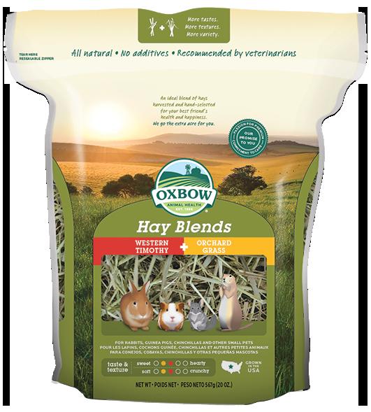 Oxbow Hay Blend หญ้าทิโมธีผสมหญ้าออร์ชาร์ด 20 ออนซ์ (567 กรัม)