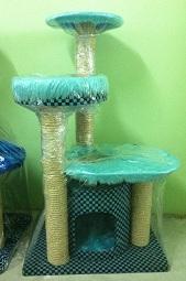 คอนโดแมวไฮไลฟ์สูง 85 เซนติเมตร สี Light Blue