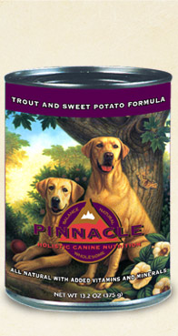 อาหาร Pinnacle Trout & Sweet Potato สูตรปลาเทราท์ ขนาด 375 กรัม