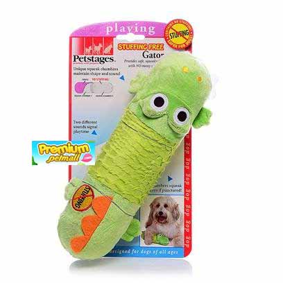 ของเล่นสุนัข Pet Stages Stuffing Free Gator ของเล่น