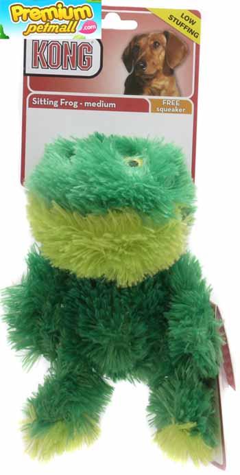 ของเล่น Kong Sitting Frog ตุ๊กตาเป็ด ไซต์ M สำหรับสุนัข
