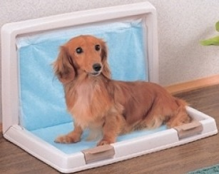 ห้องน้ำสำหรับสุนัขเพื่อการขับถ่าย รูปตัว L ขนาดใหญ่