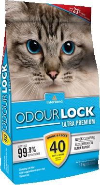 ทรายแมว Odour Lock Ultra Premium 6 kg. ทรายแมวภูเขาไฟ