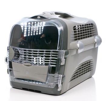 กล่องเดินทาง Catit Cabrio สำหรับแมว สุนัขพันธุ์เล็ก สัตว์เล็ก สีเทา