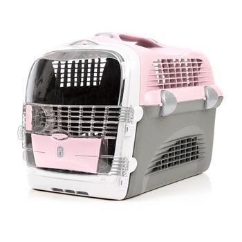 กล่องเดินทาง Catit Cabrio สำหรับแมว สุนัขพันธุ์เล็ก สัตว์เล็ก สีชมพู