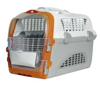 กล่องเดินทาง Catit Cabrio สำหรับแมว สุนัขพันธุ์เล็ก สัตว์เล็ก สีส้ม