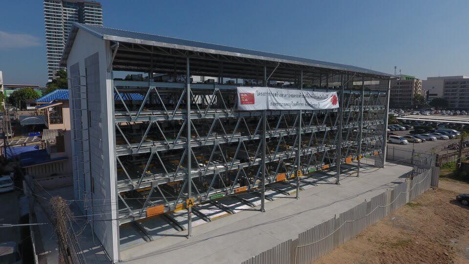 โครงการอาคารจอดรถด้วยเครื่องจักรกลอัตโนมัติ G-07 GPP Puzzle Parking จำนวน 150 คัน รพ.พญาไท อ.ศรีราชา จ.ชลบุรี โครงการก่อสร้างแล้วเสร็จ พ.ศ.2560