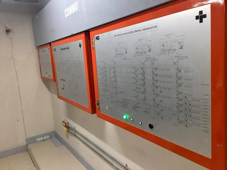 Graphic Annunciator- fire protection system - remote fan system