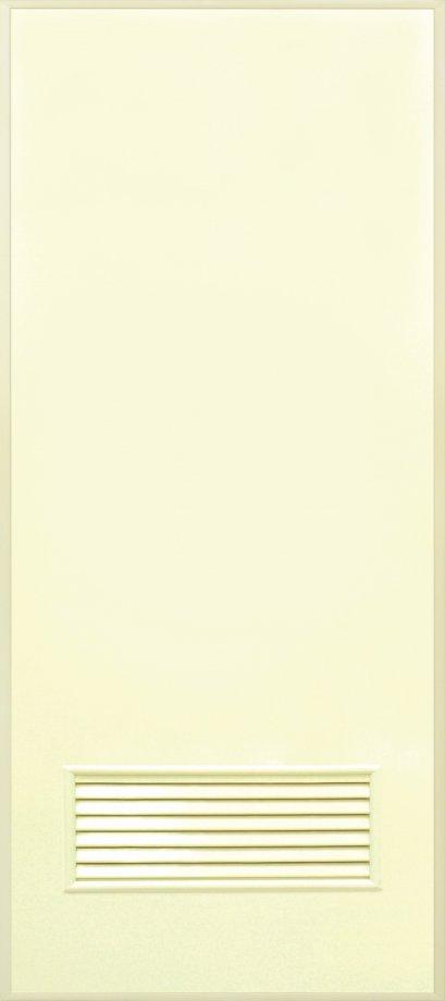 ประตู PVC สีครีม,เทา บานเรียบ เจาะเกล็ดเล็ก 1/4