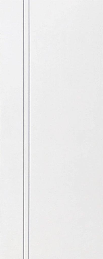 ประตู uPVCรุ่นภายนอก EXTERA สีขาว บานเรียบ เซาะร่อง 2 เส้นตรง