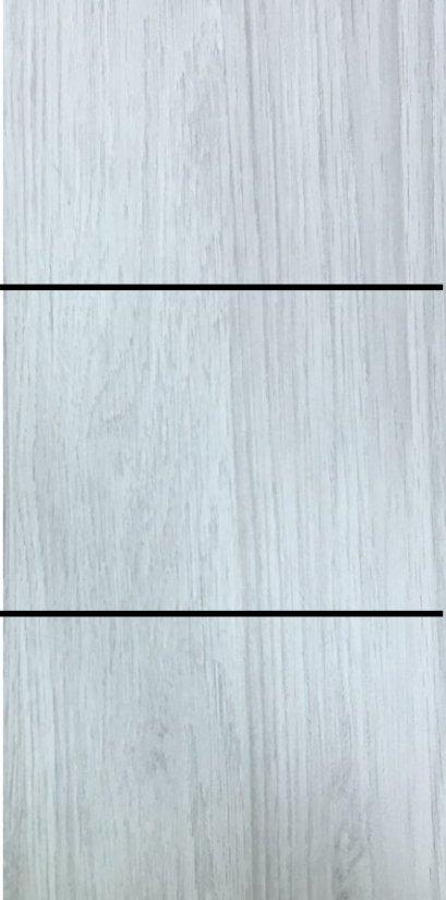 ประตู uPVC รุ่นภายใน EXTERA สี Silver Grey บานเรียบ เซาะร่อง 2 เส้นนอน