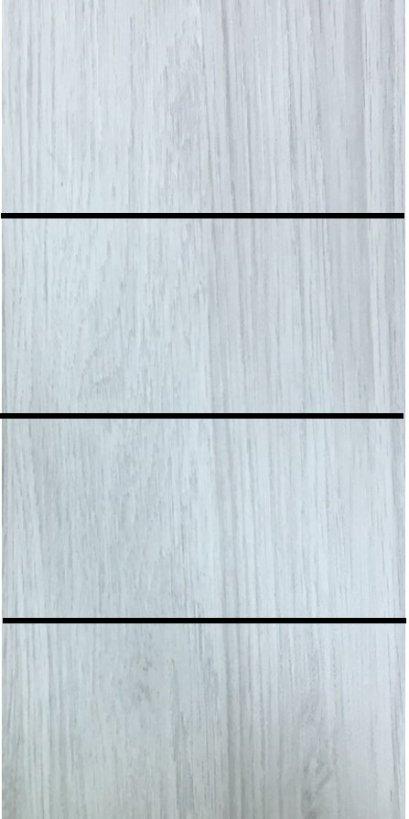 ประตู uPVC รุ่นภายใน EXTERA สี Silver Grey บานเรียบ เซาะร่อง 3 เส้นนอน