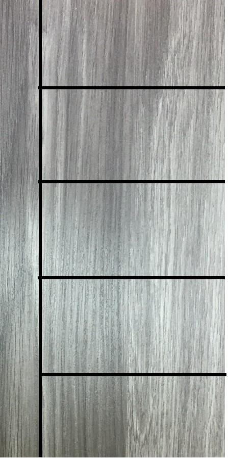 ประตู uPVC รุ่นภายใน EXTERA สี Smoke Grey บานเรียบ เซาะร่อง 1 เส้นตรง 4 เส้นนอน