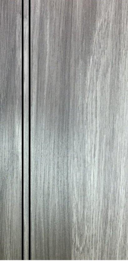 ประตู uPVC รุ่นภายใน EXTERA สี Smoke Grey บานเรียบ เซาะร่อง 2 เส้นตรง