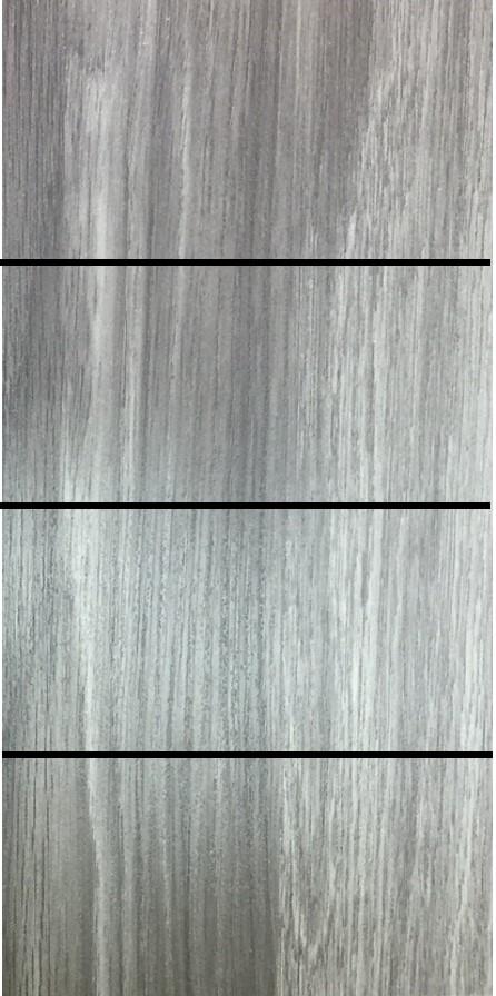 ประตู uPVC รุ่นภายใน EXTERA สี Smoke Grey บานเรียบ เซาะร่อง 3 เส้นนอน