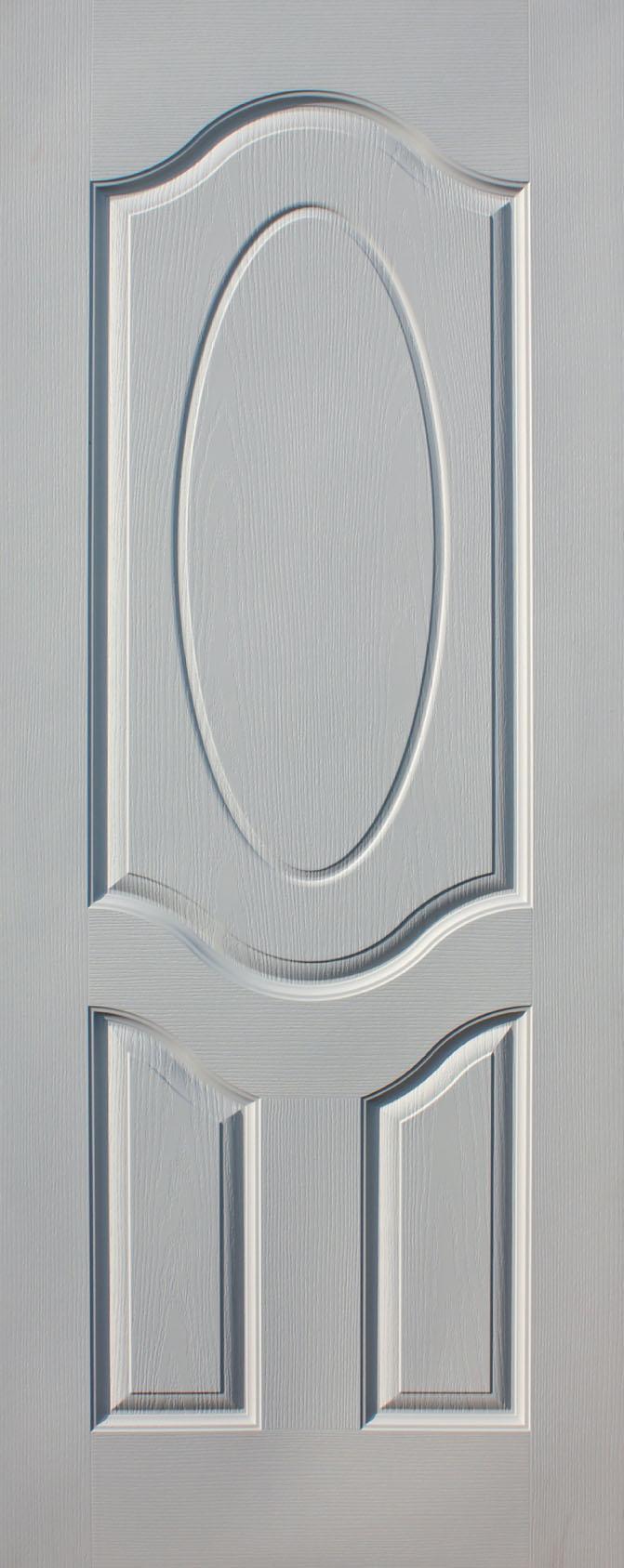 ประตูไม้ HDF บานลูกฟัก 2 ช่องโค้ง ขนาด 80x200 ซม.