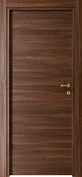 ประตูไม้จำปาเอ็นจิเนียร์บานเรียบแนวนอน(ไม่ทำสี) 90x200 ซม.