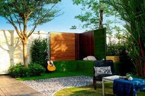 เปลี่ยนสวนที่ว่างข้างบ้าน เป็นมุมนั่งเล่นสุดชิลล์