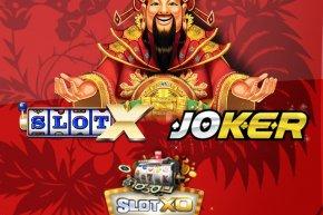 เกมสล็อต SlotX, SlotXO, Joker123 พร้อมโบนัส 100%