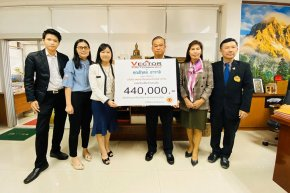 Donate 440,000 Baht to purchase 8 air conditioners for Bangbowitthayakhom School.