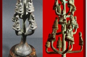 How to mold metal amulets in old style of mould pouring