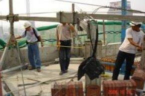งานตรวจสอบกระเช้าไฟฟ้า  Electric Hoist and Gondora Inspection