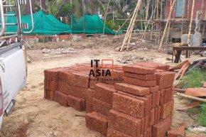 ศิลาแลง ขนาด 20x40 ซม. หน้างาน อ.บ้านแหลม จ.เพชรบุรี