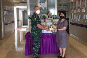 ภูมิพฤกษา ปันน้ำใจ ต้านภัยโควิด-19 กรมทหารราบที่ 21 รักษาพระองค์ จ.ชลบุรี