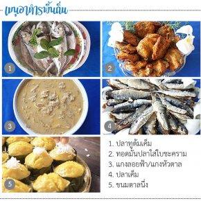 Local food at Ban Bang Ket, Cha-Am District
