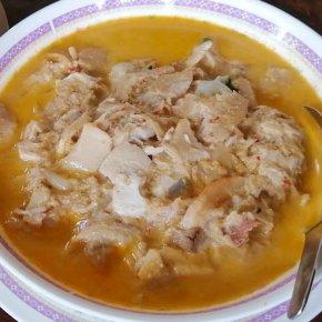 Local food at Ban Tham Rong, Ban Lat District